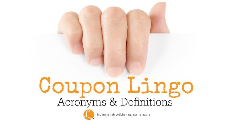 Coupon Acronyms