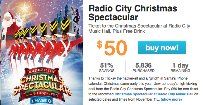 radio city christmas spectacular discount tickets 51 off - Radio City Christmas Show Tickets