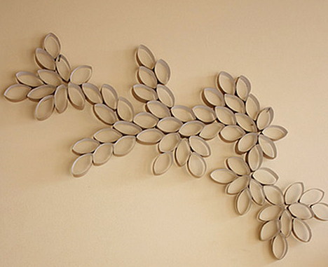 Do It Yourself: Toilet Paper Roll Wall Art