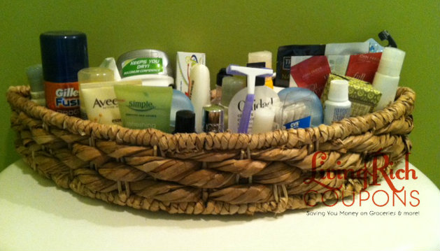 Extreme Couponing Tip - toiletry basket