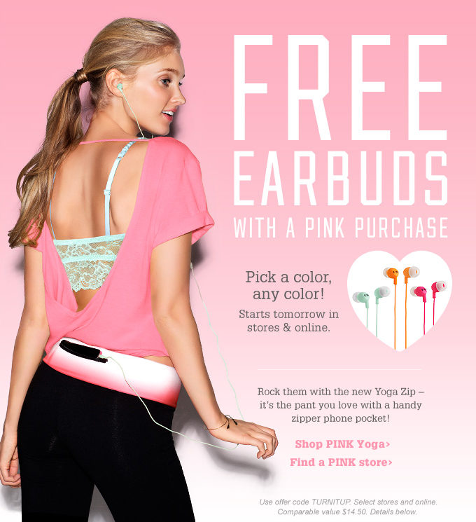 Victorias Secret Coupon Free Ear Buds With Pink