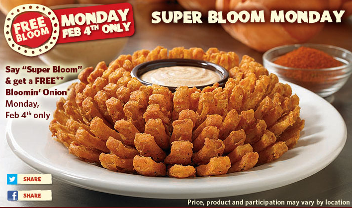 outback steakhouse bloomin onion free coupon