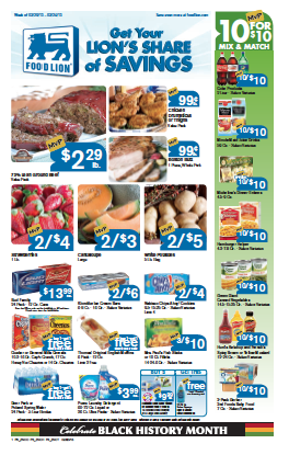 coupon deals at food lion
