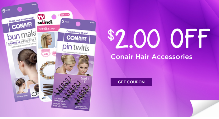 photograph regarding Conair Printable Coupons identify Conair Coupon - $2.00 off any (1) Conair Hair Accent