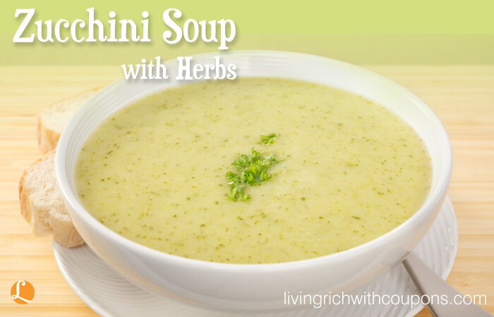 Zucchini soup with herbs