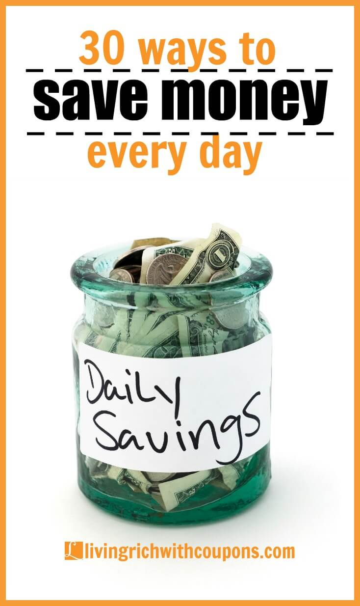30 ways to save money every day