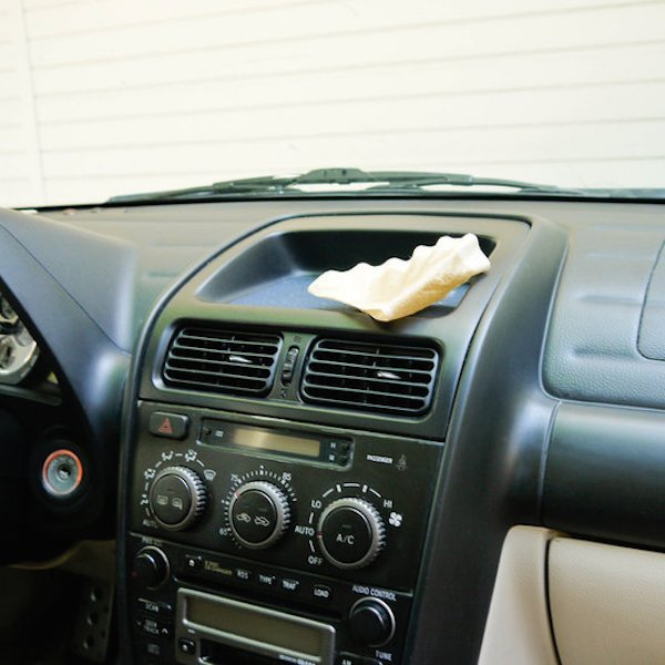 clean car with a coffee filter