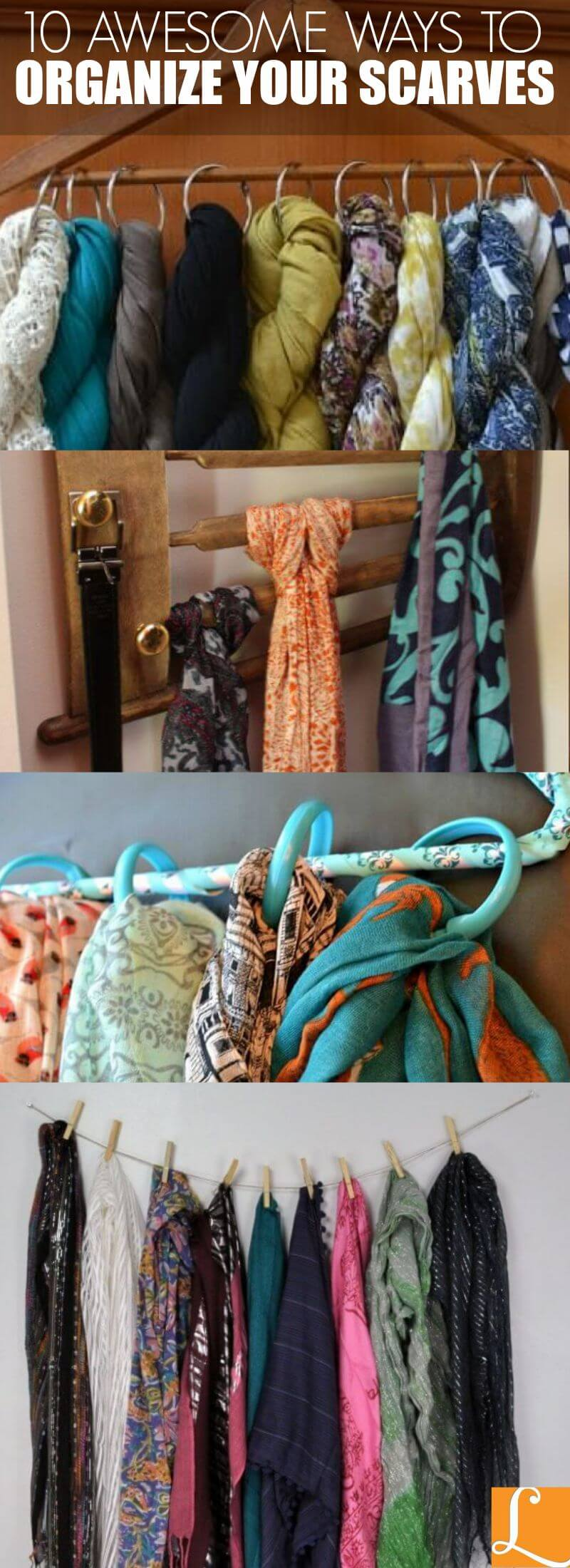 10 Awesome Ways to Organize Your Scarves