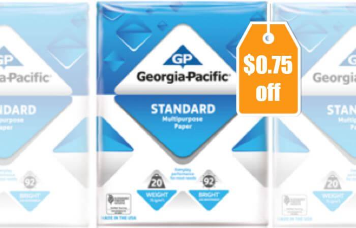 New $0 75/1 Georgia Pacific Copy & Printer Paper Coupon + Deals at