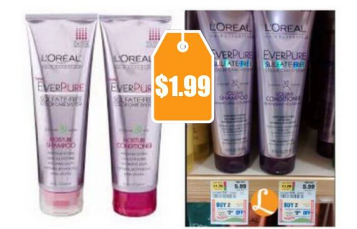 L Oreal Everpure Sulfate Free Hair Care Only 1 99 At Rite