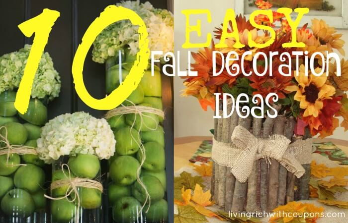 10 easy fall ecoration ideas