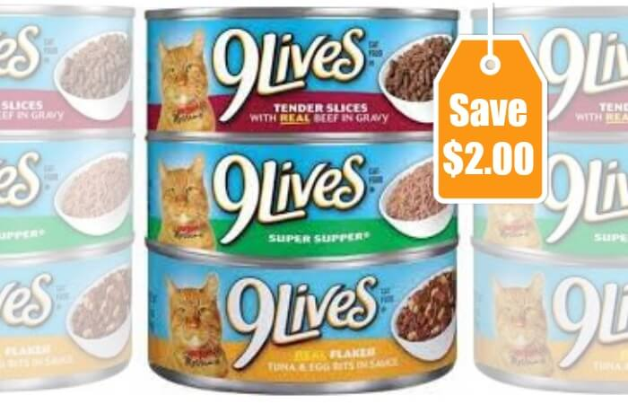 2 In New 9Lives Cat Food Coupons