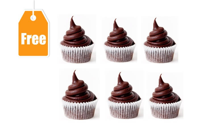 Free 6 Pack Chocolate Cupcakes With Fudge Icing For Shoprite