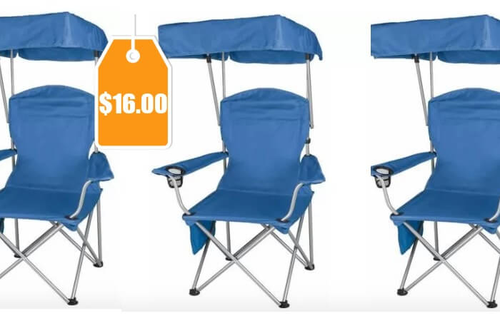 Ozark Trail Quad Folding Canopy Shade Camp Chair 16 Reg 2697