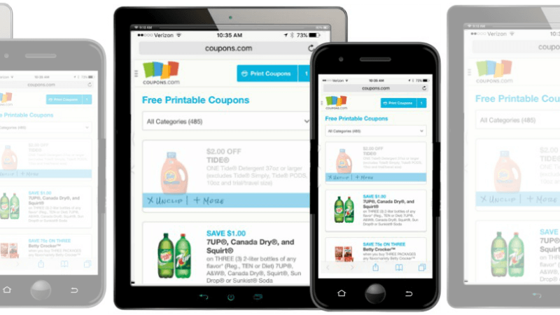 awesome news printing coupons from your mobile device just got a