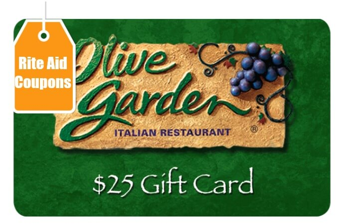 New Rite Aid Exclusive Store Coupons - Save $5 on a $25 Olive Garden ...