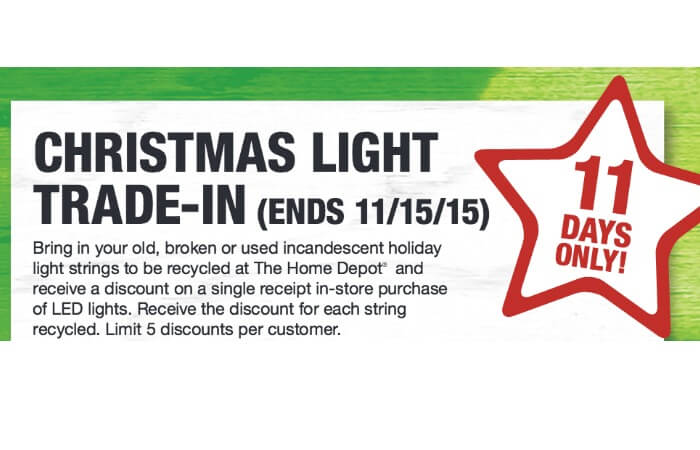home depot holiday light trade in