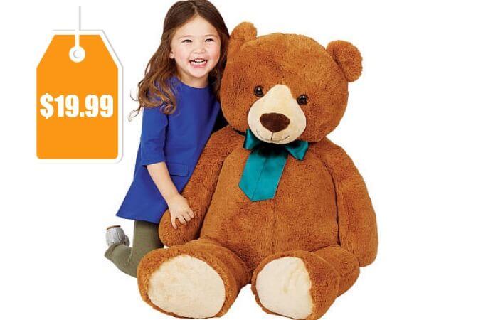 Toys R Us Animal Alley 42 Inch Bear Plush With Ribbon 19 99 Reg