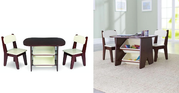 Furniture Deal. Keep your playroom neat with this adorable table and chair set!  sc 1 st  Living Rich With Coupons & Imaginarium Wooden Table and 2 Chair Set - Espresso $69.98 (Reg ...