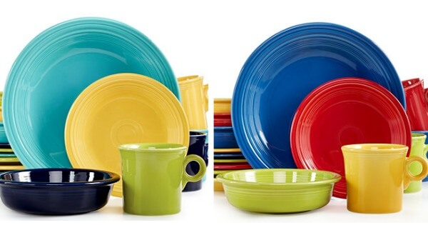 fiesta  sc 1 st  Living Rich With Coupons & 50% OFF Fiesta Mixed Bright or Cool Colors 16-Piece Set Service for ...