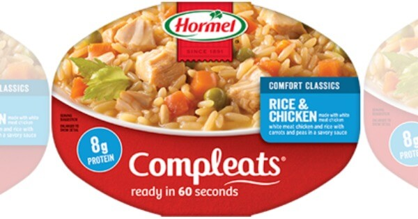 New 1 50 3 Hormel Compleats Microwave Meals Coupon
