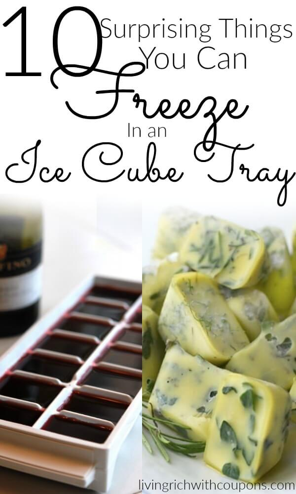 10 surprising things you can freeze in an ice cube tray