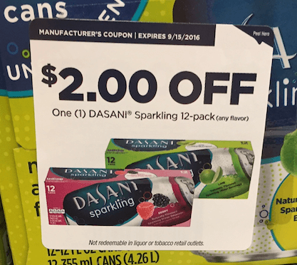dasani coupon