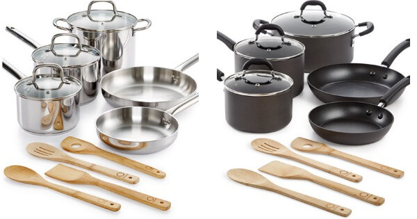 Martha Stewart Collection 12-Pc. Stainless Steel or Hard Anodized ...