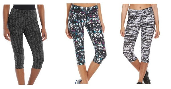 11c88fdeac Apparel Deal. HOT! Great price and lots of colors and patterns to pick  from. At Kohl's get the Women's Tek Gear Core Lifestyle Capri Yoga Leggings  ...