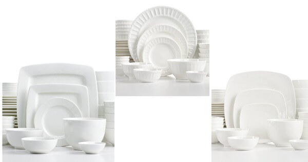 dish  sc 1 st  Living Rich With Coupons & Macy\u0027s: 42-Piece White Elements Dinnerware Set (Service for 6 ...