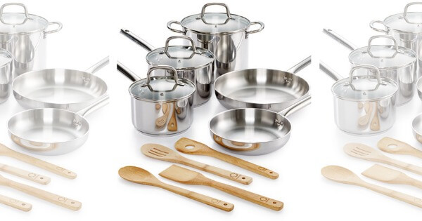 Martha Stewart Collection 12-Pc. Stainless Steel Cookware Set $42.49 ...