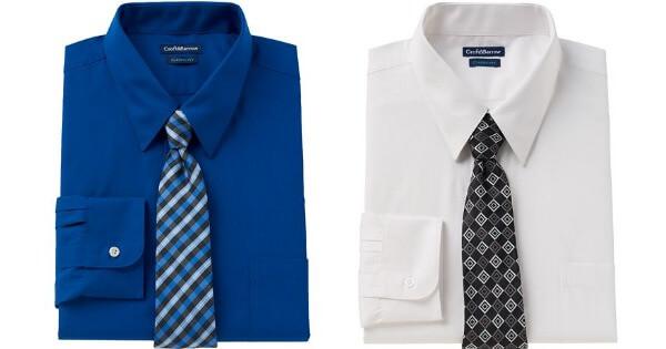 6846c2528 Kohl's: Men's Croft & Barrow Classic-Fit Dress Shirt & Tie Set ...
