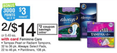 $2 50 in New Always & Tampax Coupons + Deals at Target