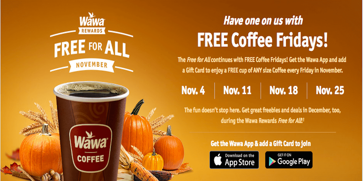 photo relating to Wawa Coupons Printable referred to as Wawa: No cost Espresso Fridays in just November!Dwelling Loaded With Coupons®