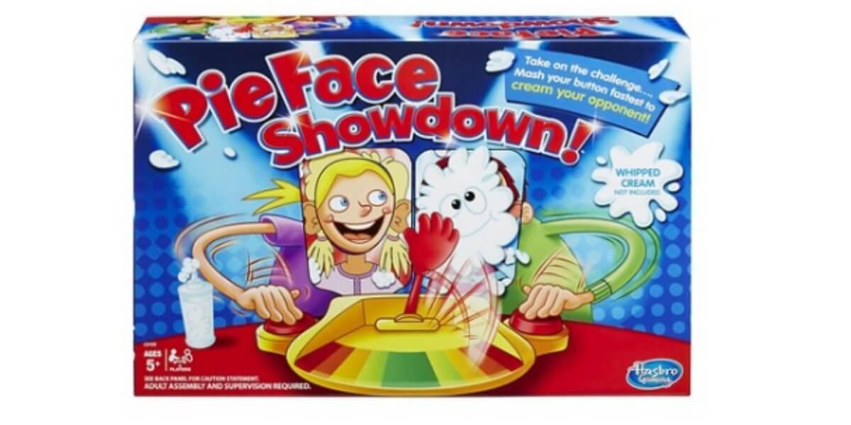 pie face showdown. toy deal pie face showdown