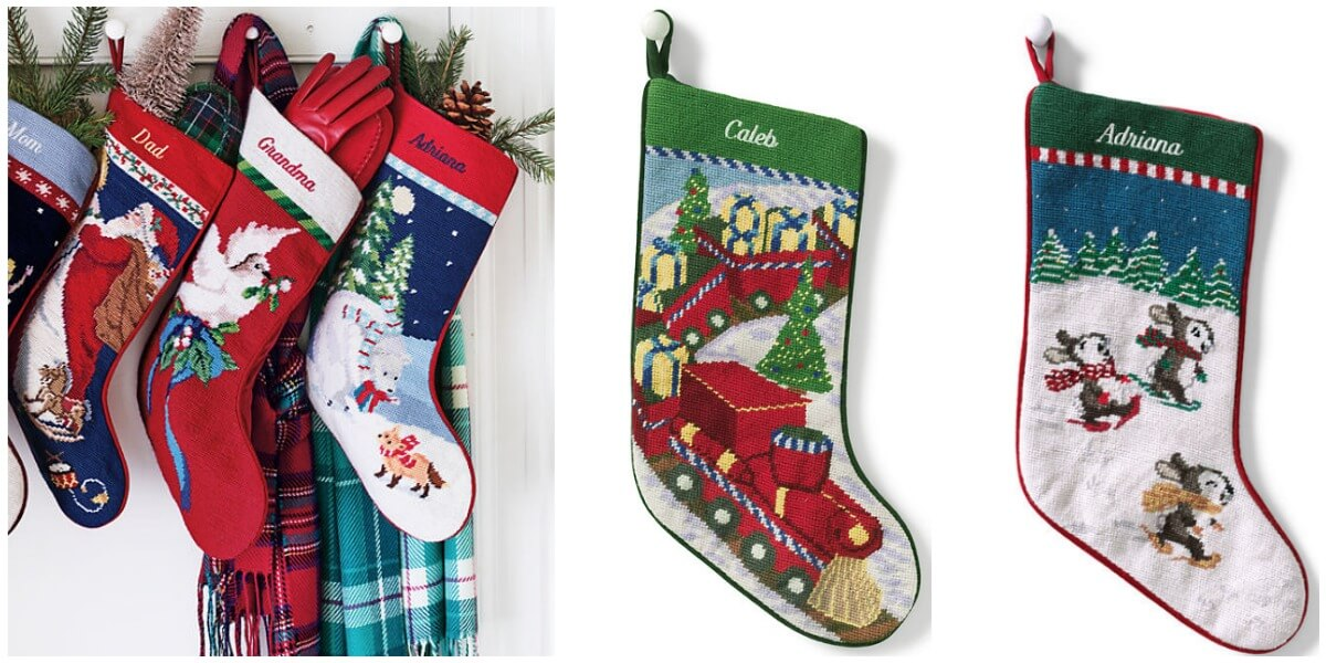 Lands End Christmas Stockings.Lands End Needlepoint Stocking With Free Monogramming 14 75