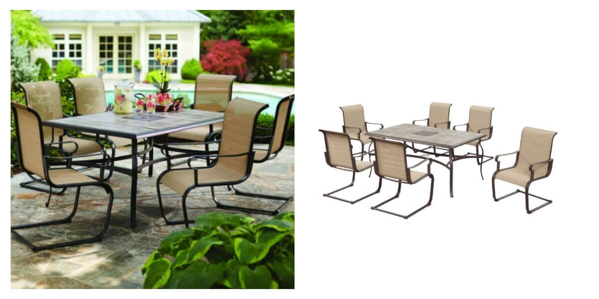 Hampton Bay Belleville 7Piece Patio Dining Set 249 Reg 499