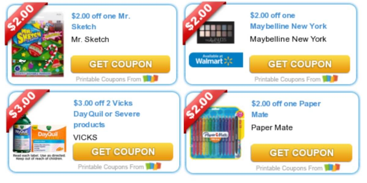 picture relating to Paper Mate Coupons Printable identified as Todays Final Fresh Discount coupons - Discounts in opposition to Maybelline, Paper