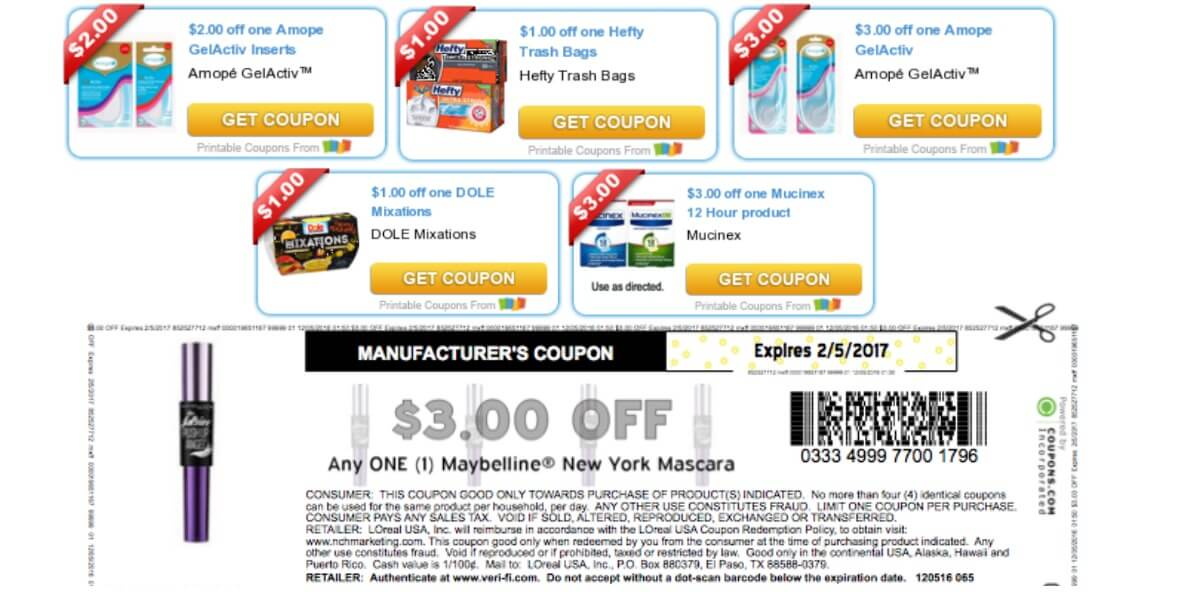 picture about Amope Printable Coupon identified as Todays Final Fresh Discount codes - Cost savings against Maybelline, Major