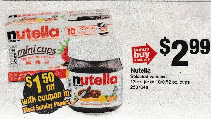 Stop & Shop, Giant & Martin's Shoppers - $1 49 Nutella