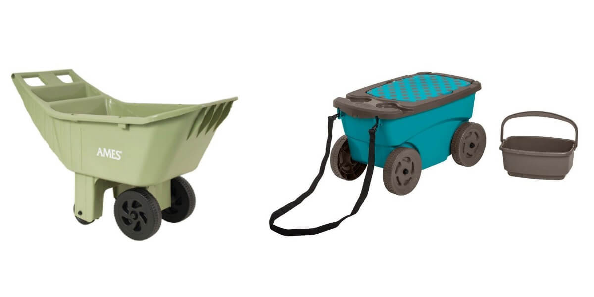 Beau Ames 4 Cu. Ft. Poly Lawn Cart Or Suncast 8.5 Gal. Resin Garden Scooter  $19.88 (Reg. $84.99)