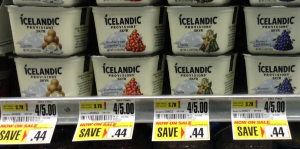 icelandic provisions skyr yogurt as low as  0 25 at