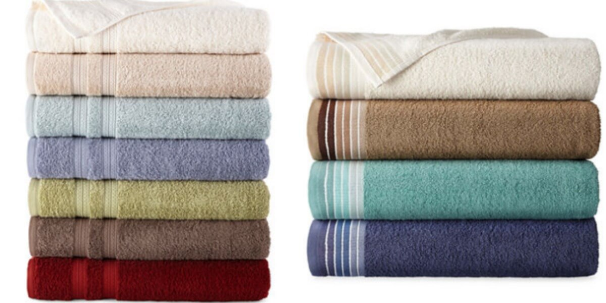JCPenney Home Expressions Bath Towels $2.09 (Reg. $10) + Free Store ...