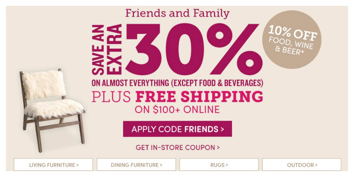 World Market: Additional 30% Off Almost EverythingLiving Rich With ...