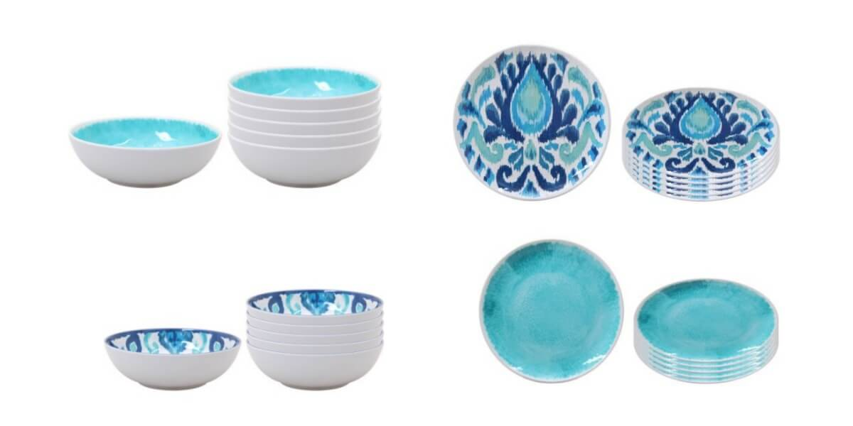 Melamine Dinnerware Deal  sc 1 st  Living Rich With Coupons & Walmart: Better Homes \u0026 Garden Melamine Plates and Bowls Clearance ...