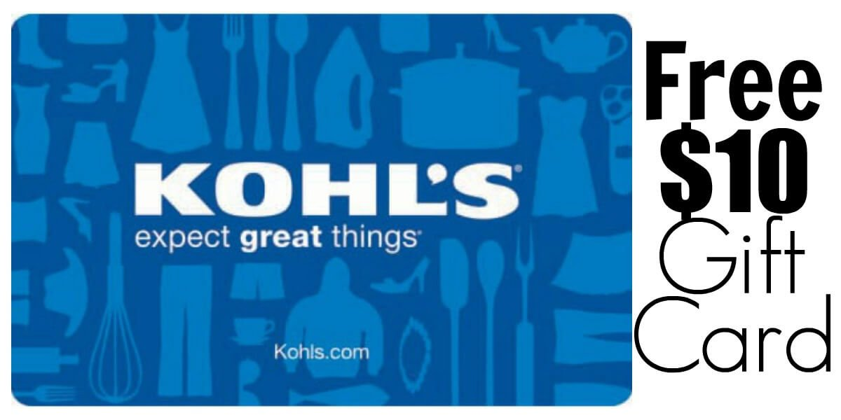 FREE $10 Gift Card at Kohls!Living Rich With Coupons®
