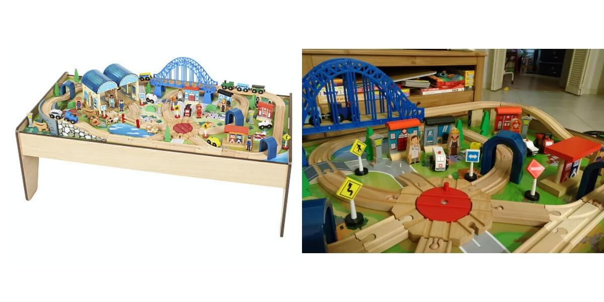 Imaginarium All-in-One 100 Piece Train Table Set $47.99 (Reg. $79.99 ...