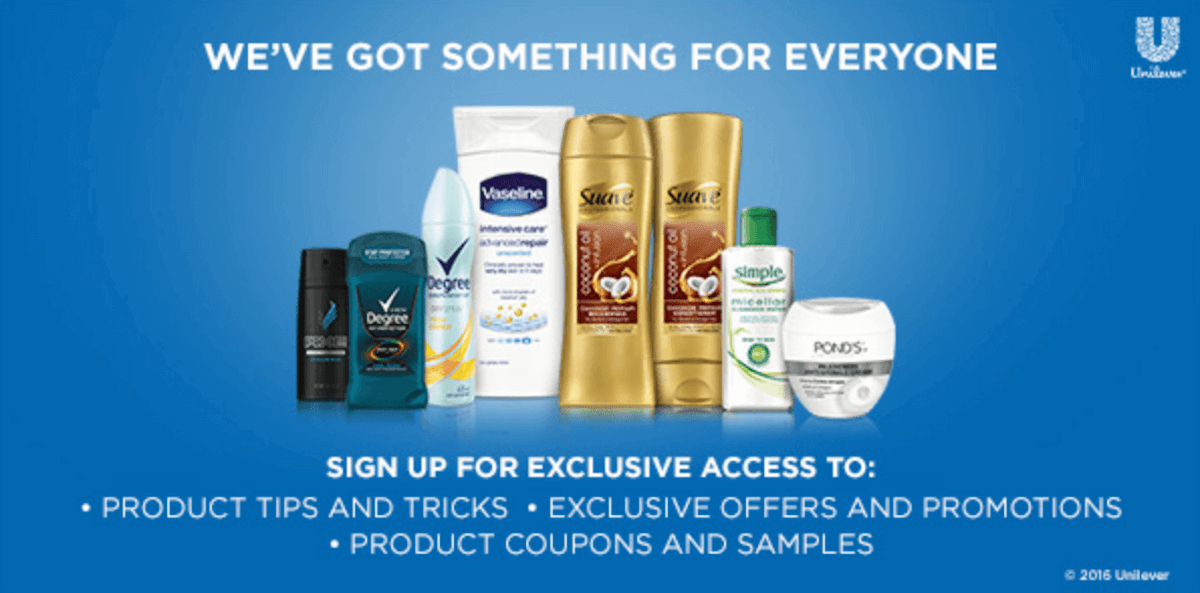 Unilever coupons