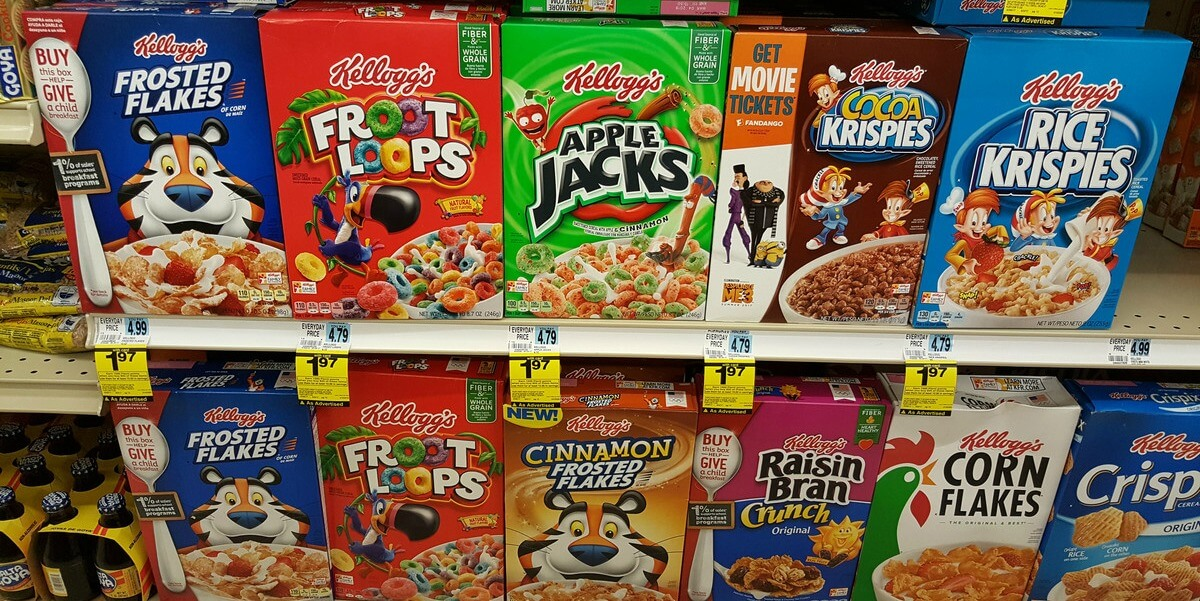 kelloggs the market leader of cereals marketing essay A study on market failure: kellogg cereal-mates first, i must begin by saying that as most americans would agree - cereal and milk go together hand-in-hand however, how would the general public feel about a combination of the two sold pre-mixed this was essentially the case when kellogg's.