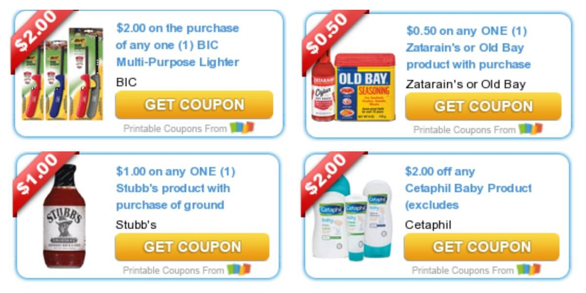 photograph about Cetaphil Coupon Printable identified as Todays Supreme Refreshing Coupon codes - Price savings towards BIC, McCormick